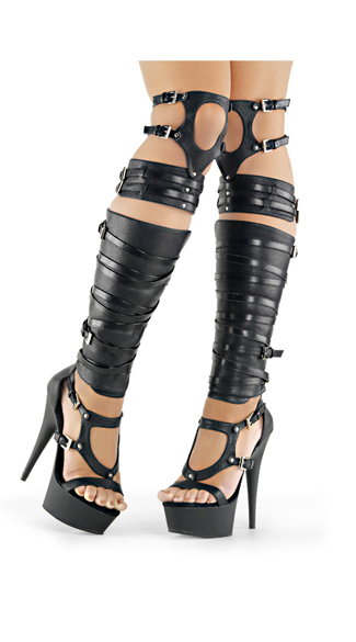 "6"" Strappy Over-The-Knee Sandal Boot"