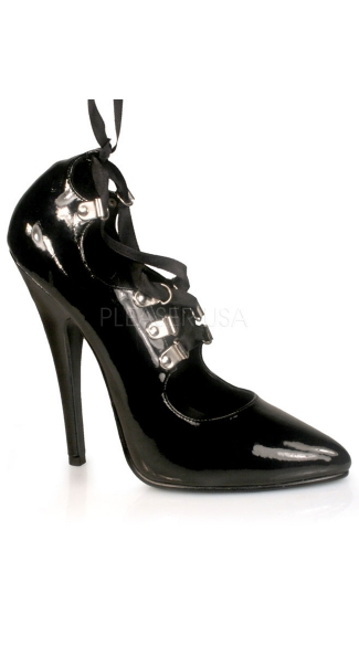 "Domina Lace Up Pump with 6"" Heel"