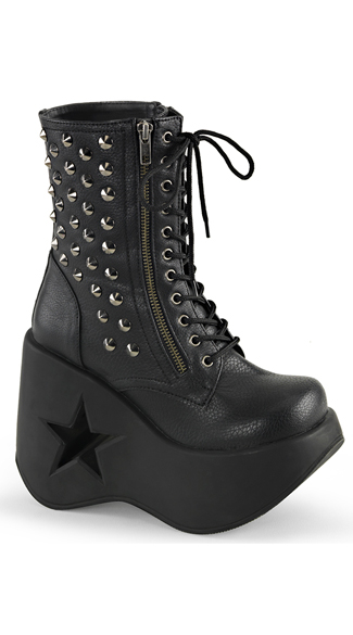 "5"" Star Wedged Ankle Boots"