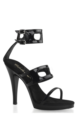 Flair Motorcycle Sandals, Strappy Black Sandals, Black High Heel Sandals
