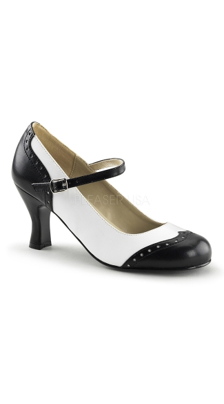 Round Toe Mary Jane Pump, High Heel Pumps, Costume Shoes