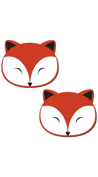 Fox Face Pasties, Animal Nipple Pasties, Fox Nipple Pasties