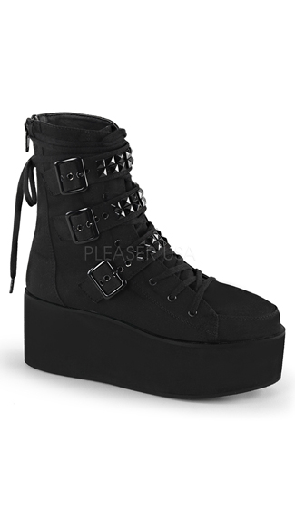 Goth Lace-Up Ankle Boot
