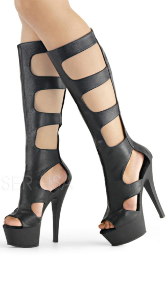 Kiss Cutout Knee High Boot