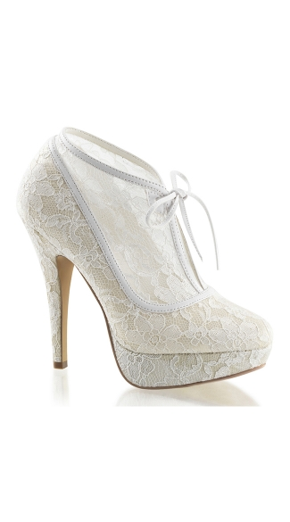 Lacy Lady Satin Platform Bootie, Lacy Boots