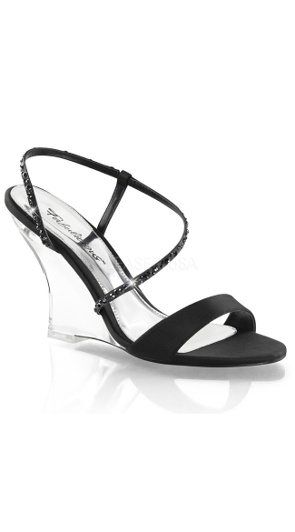 Clear Wedge Sling Back Sandals