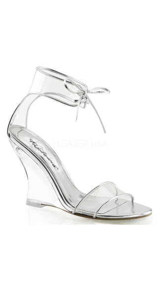 Clear Wedges with Ankle Strap