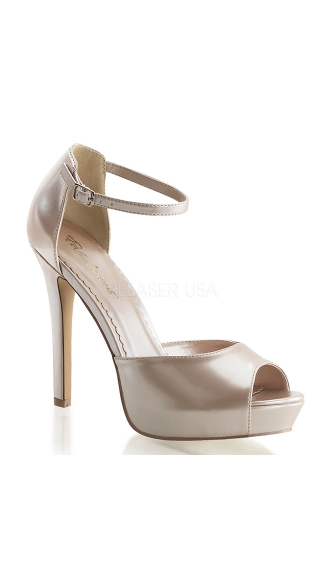 Patent Peep Toe Sandals