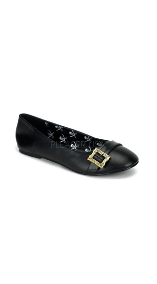 Pirate Style Flat Shoe with Buckles