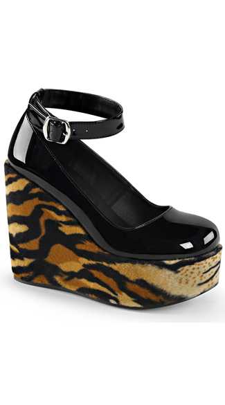 Mary Jane Tiger Platforms