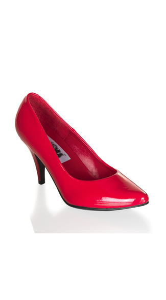 Cherry Red Classic Pointy Toe Patent Pump, 3 Inch Heel Classic Red Pump, Sexy Classic Red Pump