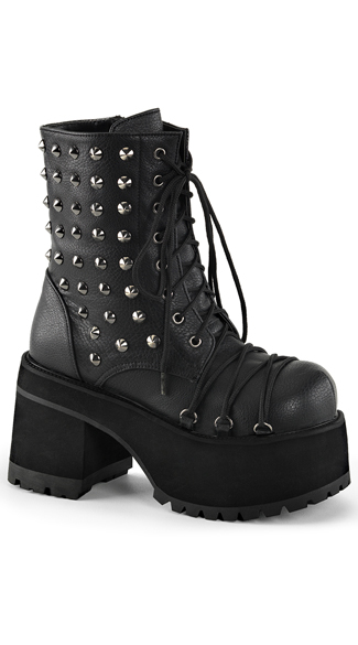 Studded Platform Ankle Boot, Gothic Boots, Boots with Spikes