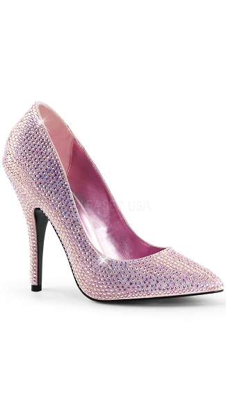 "5"" Heel, Rs Covered Pointed Toe Pump"