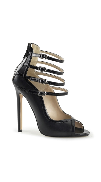 Multi Ankle Strap Peep Toe Pumps, Strappy Pumps