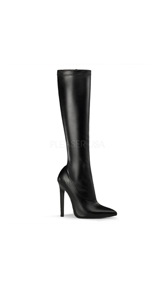 "5"" Stiletto Heel Stretch Knee Boot with Side Zipper"