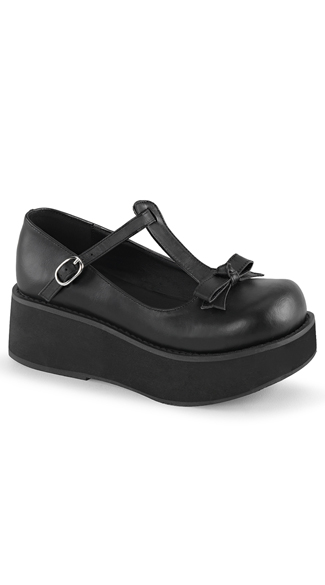 "2 1/4"" Platform T-Strap Shoes, T-Strap Shoes, Mary Jane Shoes"