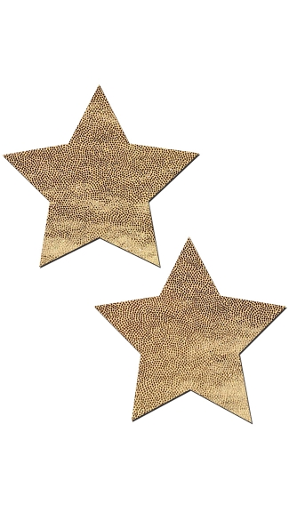 Gold Liquid Star Pasties, Star Nipple Pasties, Gold Nipples Pasties
