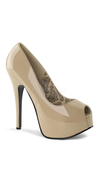"5 3/4"" Heel Simple Peep Toe Pump"