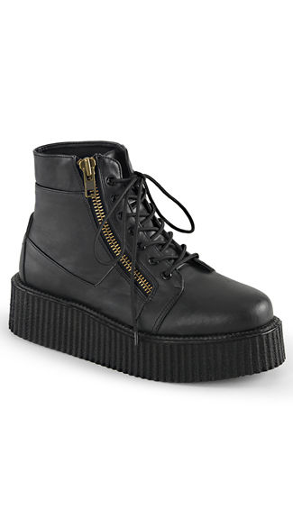 "2"" Lace-Up Creeper Bootie"