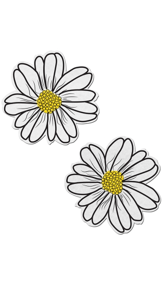 White And Yellow Flower Pasties