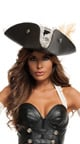 Black Pearl Pirate Costume, Leather Pirate Costume, Sexy Pirate Dress