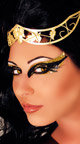 Queen Cleopatra Costume, Egyptian Queen Costume, Black and Gold Cleo Costume