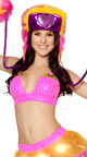 Light Up Star Skirt and Top Set, Pink and Yellow Rave Clothes