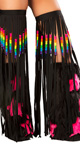 Rainbow Trim Hooded Romper And Tube Top, Rainbow Romper Set