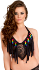 Light-Up Rainbow Daisy Chaps, Rainbow Dancewear, Rainbow Ravewear