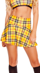 Plaid Crop Top, Yellow Plaid Top, Green Plaid Top