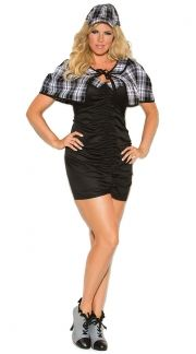 Sexy Plus Size Cop Costumes, Sexy Police Woman Plus Size Costume ...