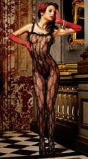 Ruffled Lace Bodystocking