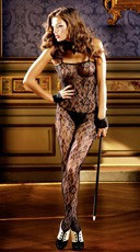 Black Floral Lace Bodystocking