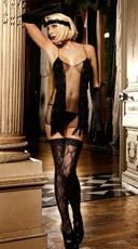 Lace Top Bow Thigh High Stockings