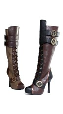 Sexy Steampunk Lace Up Stiletto Boot