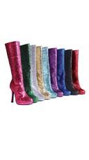 Disco Glitter Go-Go Boots