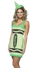 Screaming Green Crayon Costume