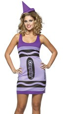 Purple Wisteria Crayon Costume