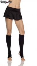 Ribbed Cuff Stirrup Knee High Leggings