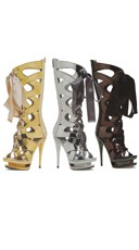 When In Rome Metallic Gladiator Bootie