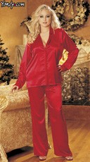 Plus Size Silky Soft Charmeuse Pajama Set