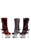 """6"""" Textured Platform Knee High Boots"""