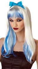 White and Blue Enchanted Tresses Wig