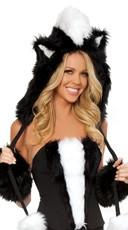 Skunk Fur Hood