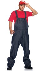 Mens Red Plumber Costume
