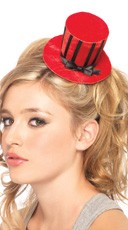 Velvet Striped Mini Top Hat