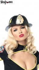 Black Fireman's Hat