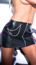 Chains of Pleasure Pleather Skirt