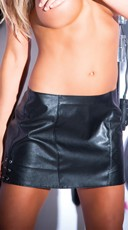 Tempt and Tease Pleather Skirt