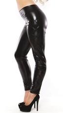 Black Wet Look Pants